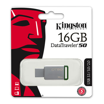 PENDRIVE USB 3.1 KINGSTON 16GB DT50